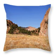 Garden Of The Gods View Throw Pillow