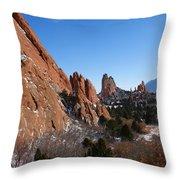 Garden Of The Gods Winter Throw Pillow