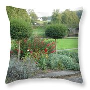 Garden On The Banks Of The Nore Throw Pillow