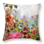 Garden Party/left Portion Throw Pillow