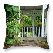 Garden Path And Gazebo Throw Pillow