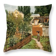 Garden Path In Louveciennes Throw Pillow