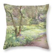 Garden Path Throw Pillow by Mildred Anne Butler