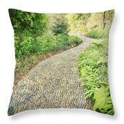 Garden Path - Photography Throw Pillow