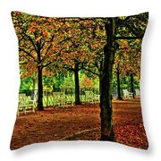 Garden Path, Schloss Biebrich Throw Pillow