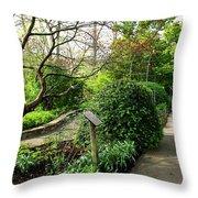 Garden Paths Throw Pillow