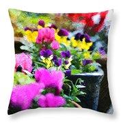 Garden Plants Throw Pillow