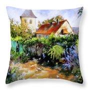 Garden Pleasures Throw Pillow