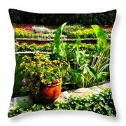 Garden Pond Throw Pillow