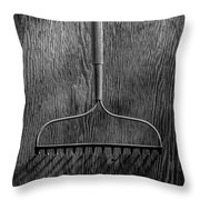 Garden Rake Down Throw Pillow