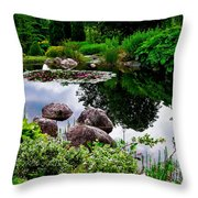 Garden Reflections ... Throw Pillow
