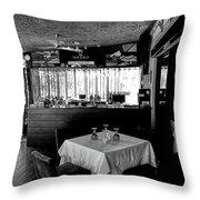 Garden Restaurant - City Of Puerto Plata, Dominican Republic Throw Pillow