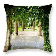 Garden Ruins Throw Pillow