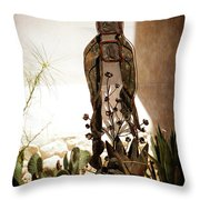 Garden Saint Throw Pillow