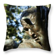 Garden Sculpture Throw Pillow