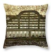 Garden Seating Throw Pillow