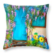 Garden Secrets - Wisteria Throw Pillow
