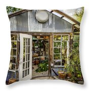 Garden Shed Throw Pillow