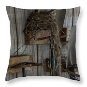Garden Shed Visitor Throw Pillow