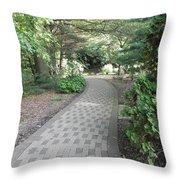 Garden Sidewalk Throw Pillow