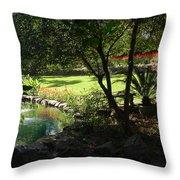 Garden Silouhette Throw Pillow