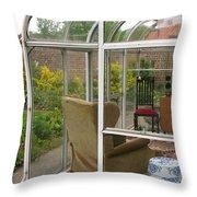 Garden Sitting Room Throw Pillow
