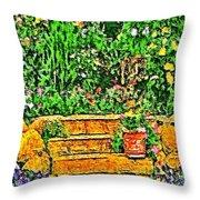 Garden Sketches 1 Throw Pillow