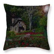 Garden Sleeping Throw Pillow