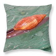 Garden Snail 4 Throw Pillow