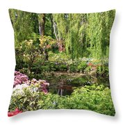 Garden Splendor Throw Pillow