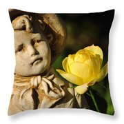 Garden Statue Throw Pillow by Kaye Menner