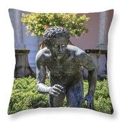 Garden Statue Ringling Museum  Throw Pillow