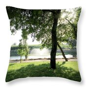 Garden Susnset Throw Pillow