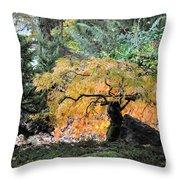 Garden Tapestry Throw Pillow