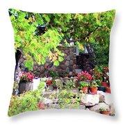 Garden Terrace Throw Pillow
