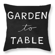 Garden To Table- Art By Linda Woods Throw Pillow by Linda Woods