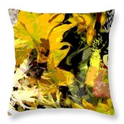 Garden Variety Cat Throw Pillow
