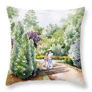 Garden Walk Throw Pillow