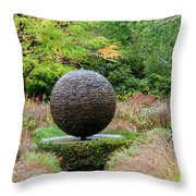 Garden Water Feature Throw Pillow