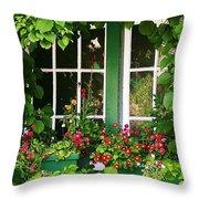Garden Window Throw Pillow