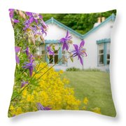 Gardener's Cottage At The Walled Victorian Gardens Of Kylemore Throw Pillow