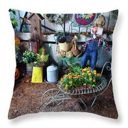 Gardeners Delight Throw Pillow