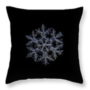 Gardener's Dream, Dark On Black Version Throw Pillow