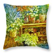 Gardener's Joy Throw Pillow