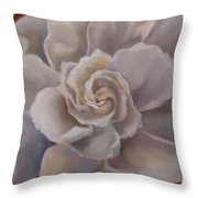 Gardenia  Bloom Throw Pillow