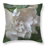 Gardenia Blossom Throw Pillow