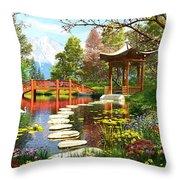 Gardens Of Fuji Throw Pillow