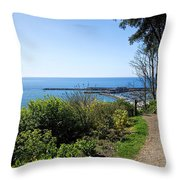Gardens Overview - Lyme Regis Throw Pillow