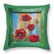 Gardens Poppy Throw Pillow