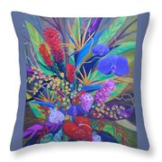 Gardner Tropicals Throw Pillow